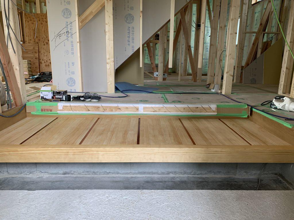 新築工事 式台設置